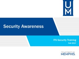 Security Awareness ITS Security Training