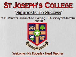 Welcome - Ms Roberts - Head Teacher