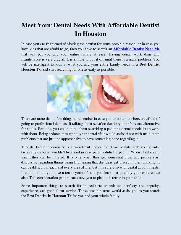 Meet Your Dental Needs With Affordable Dentist In Houston