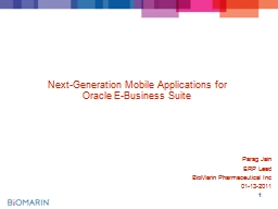 1 Next-Generation Mobile Applications for