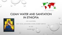 Clean Water and Sanitation in Ethiopia