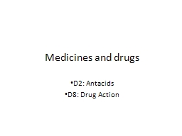 Medicines and drugs D2: Antacids
