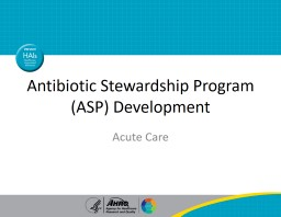 Antibiotic Stewardship Program (ASP) Development
