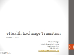 eHealth Exchange Transition