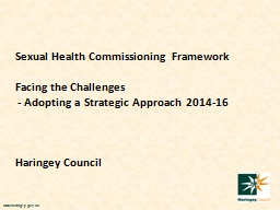 Sexual Health Commissioning Framework