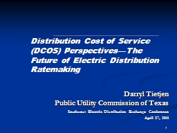 1 Darryl Tietjen Public Utility Commission of Texas PowerPoint PPT Presentation