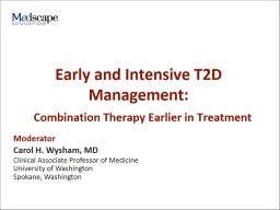 Early and Intensive T2D Management: