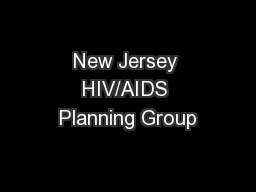 New Jersey HIV/AIDS Planning Group