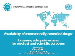 Availability of internationally controlled drugs: