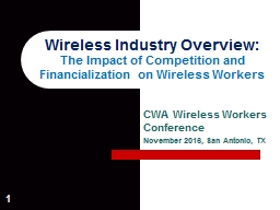 1 Wireless Industry Overview: PowerPoint PPT Presentation