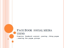 Face Book  social media using