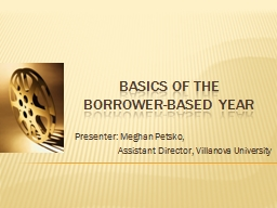 Basics of The Borrower-Based
