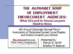 THE ALPHABET SOUP OF EMPLOYMENT