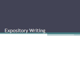 Expository Writing The person that