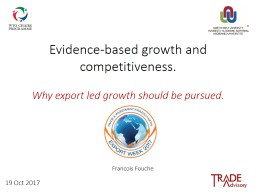 Evidence-based growth and competitiveness.