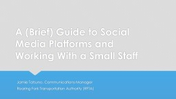 A (Brief) Guide to  Social PowerPoint PPT Presentation