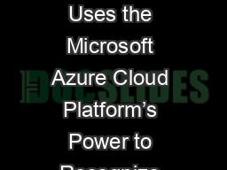 Blinkfire Analytics Uses the Microsoft Azure Cloud Platform's Power to Recognize and Measure Medi