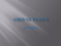 UBER VS TAXIS !! BY: Graham