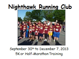 Nighthawk Running Club September 30