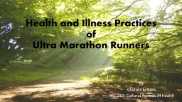 Health and Illness Practices