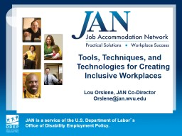 Tools, Techniques, and Technologies for Creating Inclusive Workplaces