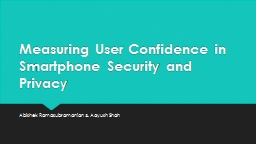 Measuring User Confidence in
