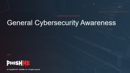 General Cybersecurity Awareness