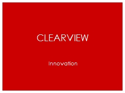 Clearview Innovation Learning PowerPoint PPT Presentation