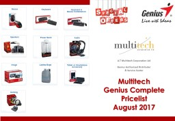 Multitech  Genius Complete Pricelist