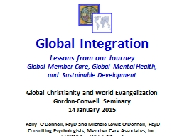 Global Integration Lessons from our Journey