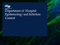 Department of Hospital Epidemiology and