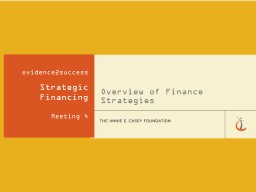 Overview of Finance Strategies