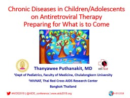 Chronic Diseases in Children/Adolescents on Antiretroviral Therapy