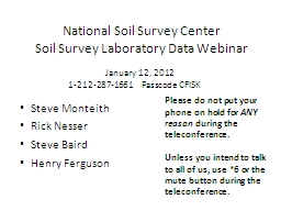 National Soil Survey Center