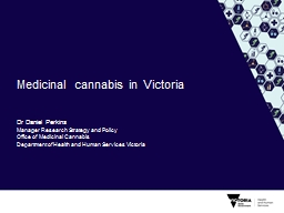 M edicinal cannabis  in PowerPoint PPT Presentation