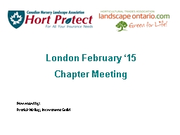 London February �15 Chapter Meeting
