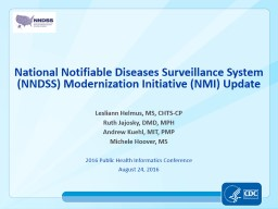National  Notifiable Diseases Surveillance