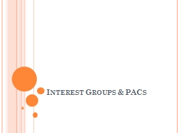 Interest Groups & PACs