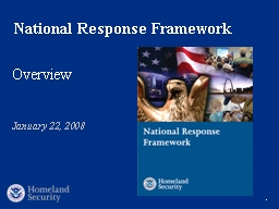 1 The National Response Framework