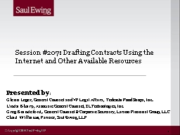 Session #207: Drafting Contracts Using the Internet and Other Available Resources