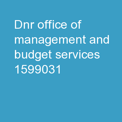 DNR Office of Management and Budget Services