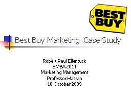 Best Buy Marketing Case Study