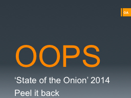 OOPS 'State of the Onion' 2014
