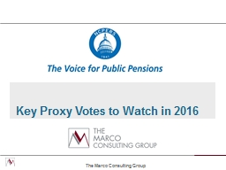 Key Proxy Votes to Watch in 2016