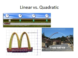 Linear vs. Quadratic Form of an Equation