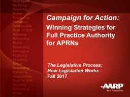 Campaign for Action: Winning Strategies for Full Practice Authority