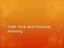Cash Flow and Financial Planning PowerPoint Presentation, PPT - DocSlides