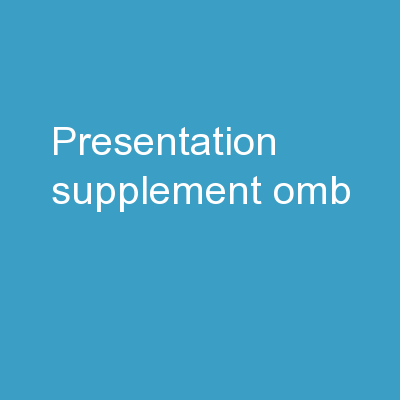 Presentation Supplement OMB