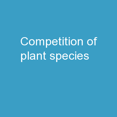 competition of plant species