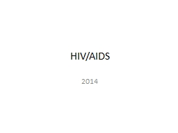 HIV/AIDS 2014 Basic Definitions